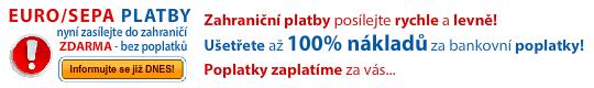 SEPA / EURO platby ZDARMA